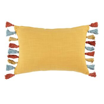 Beaded Trees Tassel Oblong Throw Pillow view 2