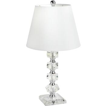"21.25"" Square Disks Crystal Table Lamp"