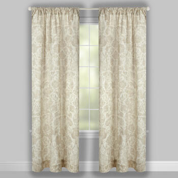 Raphaelle Leaf Pattern Window Curtains, Set of 2 view 2