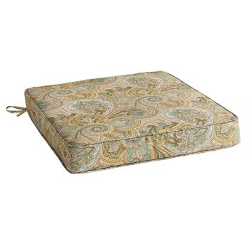 Waverly® Paisley Indoor/Outdoor Squared Seat Pad