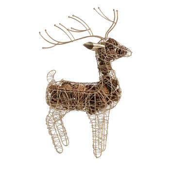 "19"" Pinecone-Filled Wire Reindeer Decor view 1"