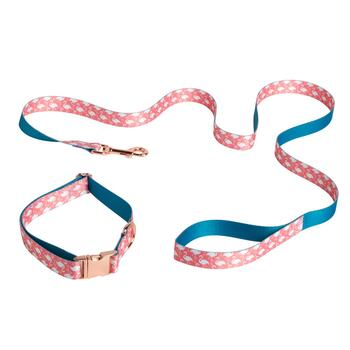 Coastal Living Seascapes™ Large Flamingo Pet Collar and Leash Set