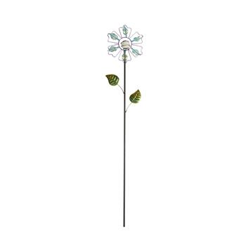 "33"" Purple Glow Flower Garden Stake"