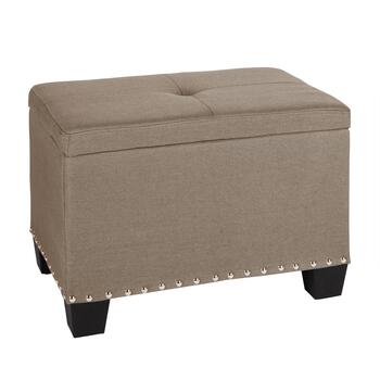 Lift Top Nailhead Storage Ottoman