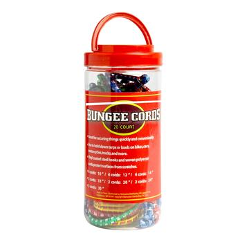 Bungee Cords Canister, 20-Count