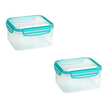 72-oz. Rectangular Plastic Storage Containers, Set of 4