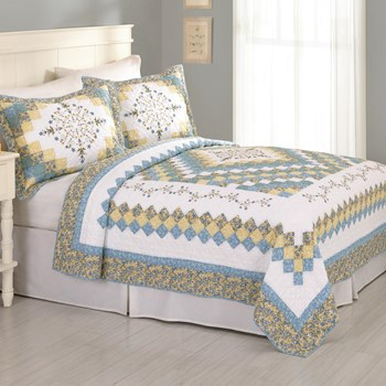 Clementine Embroidered Cotton Quilt