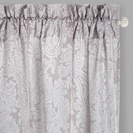 "84"" Paisley Rod Pocket Window Curtains, Set of 2 view 1"