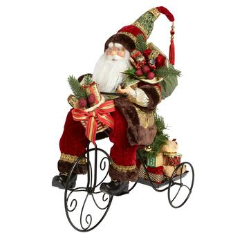 "20"" Santa with Gifts on Tricycle"