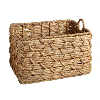 Water Hyacinth Links Rectangular Woven Basket