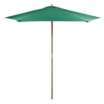9' Hunter Green Double-Pulley Market Umbrella