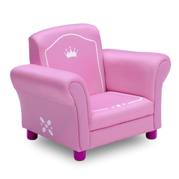 Crown Pink Upholstered Children's Chair view 3
