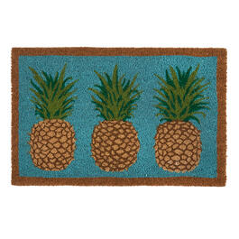 3 Pineapples Coir Door Mat view 1