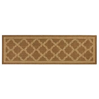 Brown/Beige Lattice All-Weather Area Rug view 2 view 3 view 4