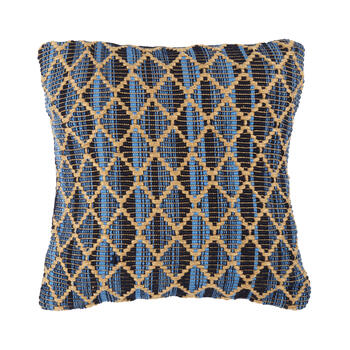 Navy/White Starfish-Shaped Indoor/Outdoor Throw Pillow view 1