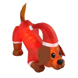 "Airblown® 58"" Wagging Tail Lighted Santa Dog Inflatable view 1"