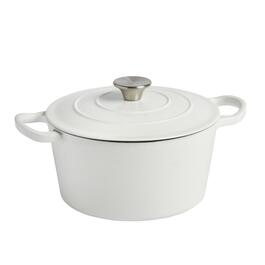 4-Quart White Covered Cast Iron Dutch Oven