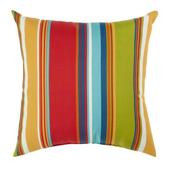 Fiesta Stripe Indoor/Outdoor Square Throw Pillow