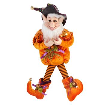 "13"" Orange Pumpkin Halloween Elf Jester"