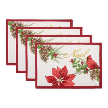 """Noel"" Cardinal Placemats, Set of 4 view 1"