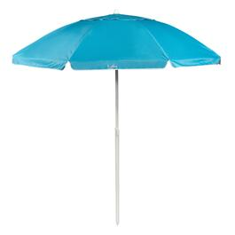 7' Light Blue Tilt Beach Umbrella