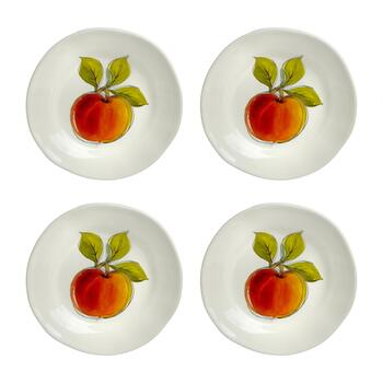 "Tuscan Table 9"" Fruit Side Plates, Set of 4"