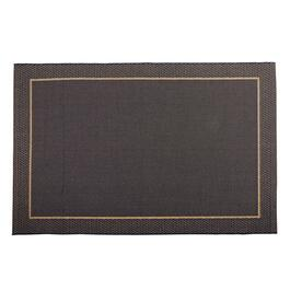 Navy/Tan Border Woven All-Weather Area Rug