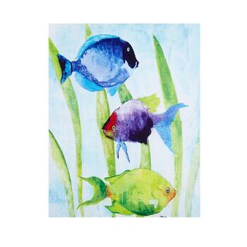 "22""x28"" Watercolor Fish Canvas Wall Art"