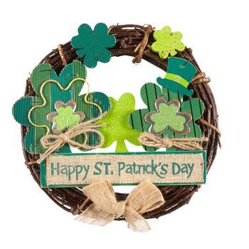 "4983492222129 Happy St. Patrick s Day"" Shamrock Wreath - Christmas Tree Shops and ..."