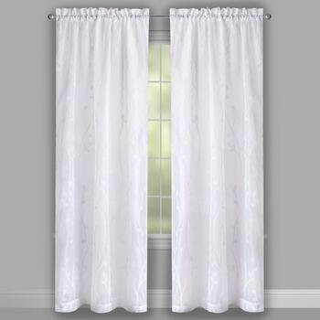 White Vine Window Curtains, Set of 2 view 2