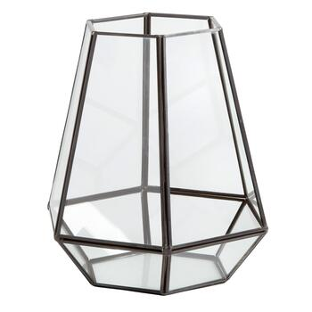 "8"" Metal Hexagon Hanging Terrarium"