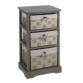 3 Basket Drawer Bathroom Storage Unit Cabinet White shop cabinets - christmas tree shops and that!