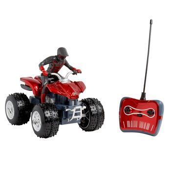 Remote-Controlled Sport Quad ATV with Rider