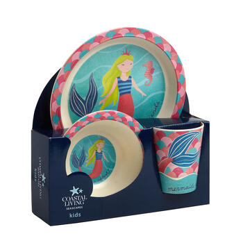 Coastal Living Seascapes™ Mermaid Children's Dinnerware Set, 3-Piece view 1