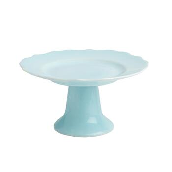 Small Scalloped Footed Cake Stand