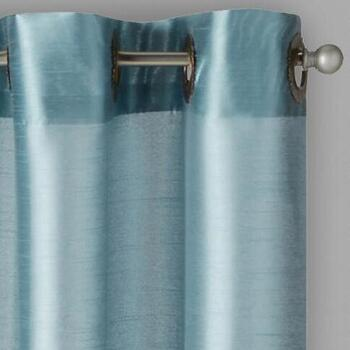 "84"" Faux Silk Grommet Window Curtains, Set of 4"