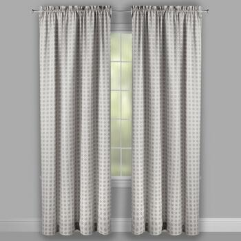 Traditions by Waverly® Gray Geo Checkered Window Curtains, Set of 2 view 2