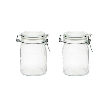 Square Bottom Fido Canning Jars, Set of 2