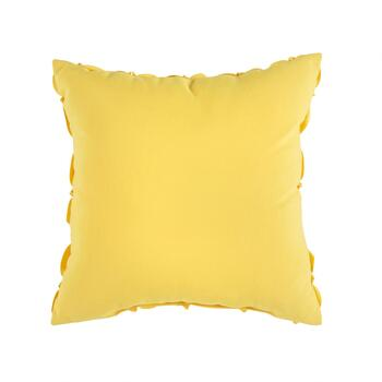 "Coastal Living Seascapes™ 18"" Yellow 3D Flowers Indoor/Outdoor Throw Pillow view 2"