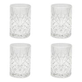 Dublin Cut Shannon Double Old-Fashioned Glasses, Set of 4