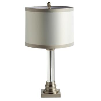 "25.75"" Crystal Cylinder Table Lamp"