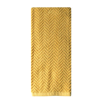 Yellow Chevron Kitchen Towel view 1