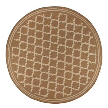Brown/Beige Lattice All-Weather Area Rug view 2 view 3