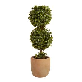 "The Grainhouse™ 15.75"" Artificial Two-Tier Potted Topiary"