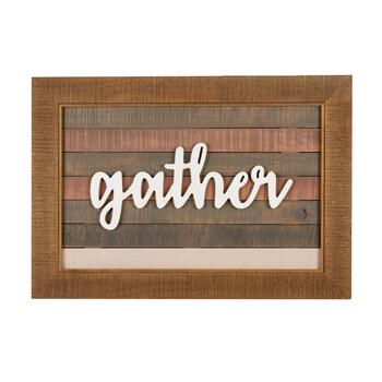 "The Grainhouse™ White ""Gather"" Slatted Wall Decor"