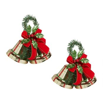 Double Bell Evergreen Berry Hangers, Set of 2