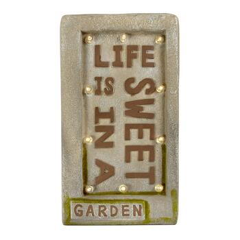 "LED ""Life is Sweet"" Garden Sign"