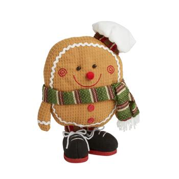 "7"" Plush Gingerbread Cookie Shelf Sitter"
