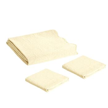 Solid Quilted Cotton Matelasse Coverlet Set view 2