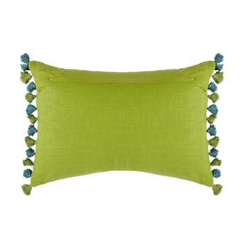 Embroidered Vine Oblong Throw Pillow view 2
